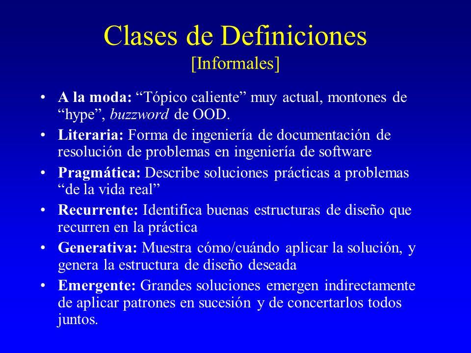 Clases de Definiciones [Informales]